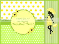 Thank you cards-Green and Yellow