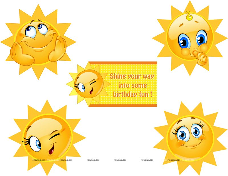 Sunshine Birthday theme Posters pack of 5